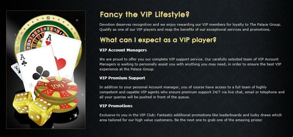 Spin Palace Casino VIP Program