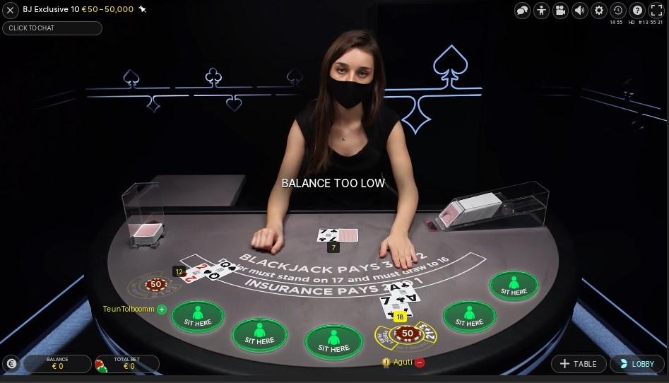 Twin Casino Live Blackjack