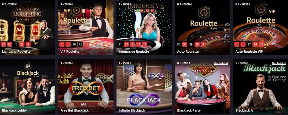 Twin Casino Live Casino Games