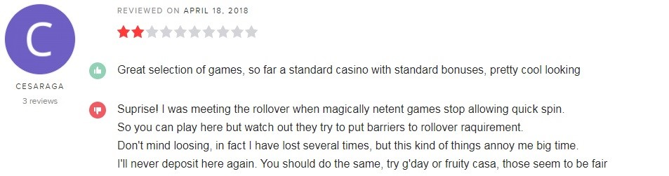 Twin Casino Player Review