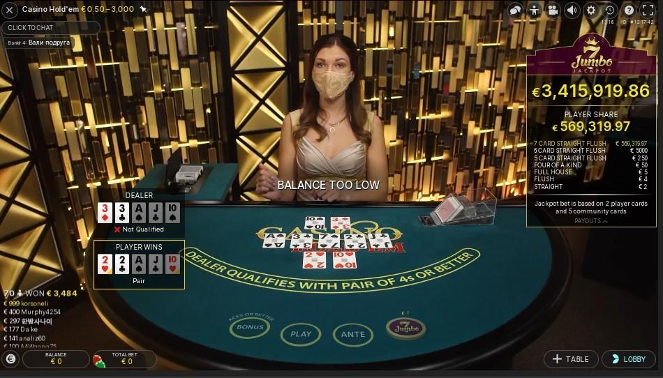 Unibet Casino Live Poker