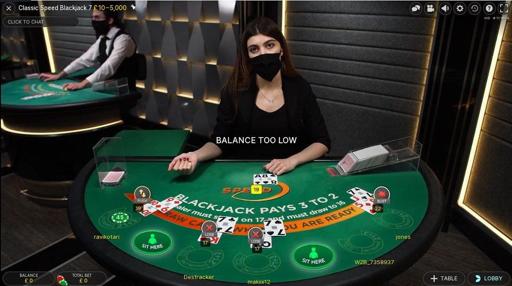 21 Casino Live Blackjack