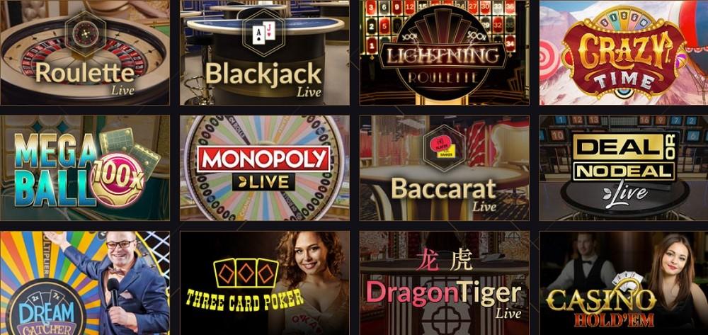21 Casino Live Casino Games