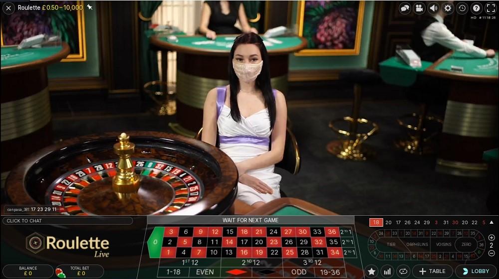 21 Casino Live Roulette