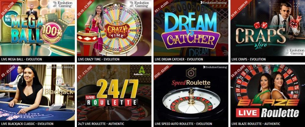 Aspers Casino Live Casino Games
