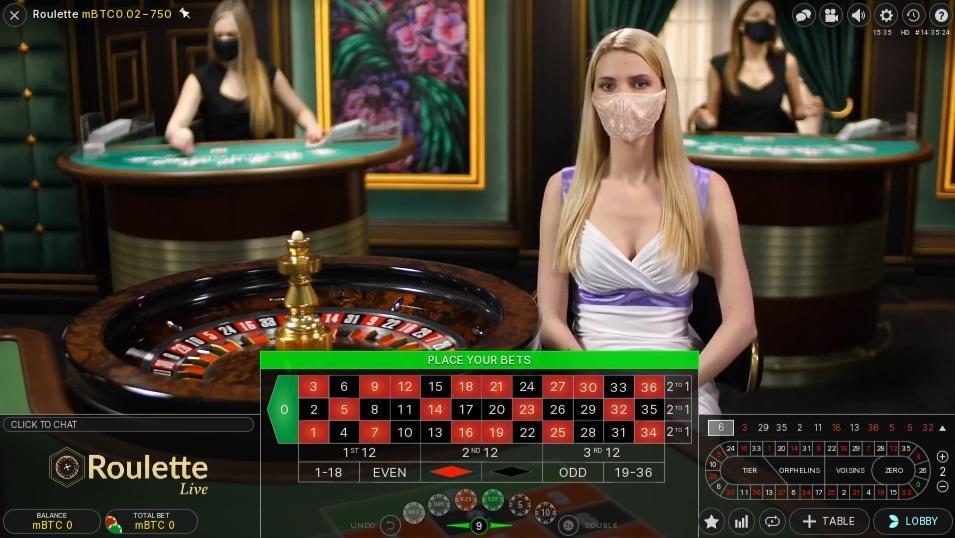 Aspers Casino Live Roulette