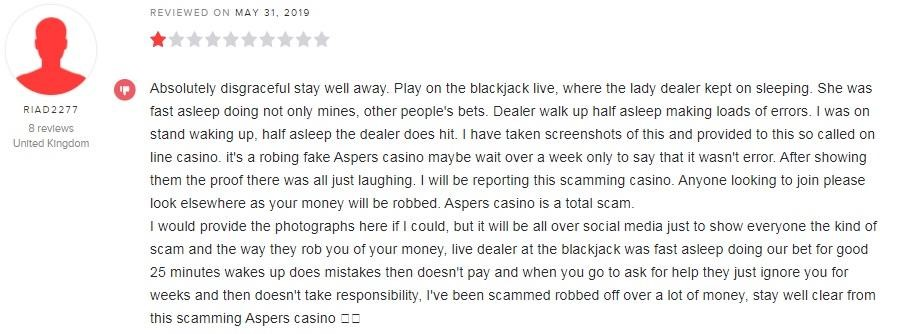 Aspers Casino Player Review