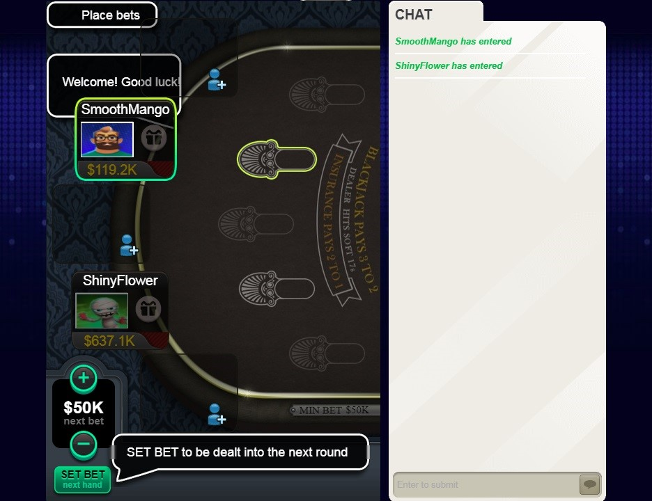 Big Fish Casino Automated Blackjack