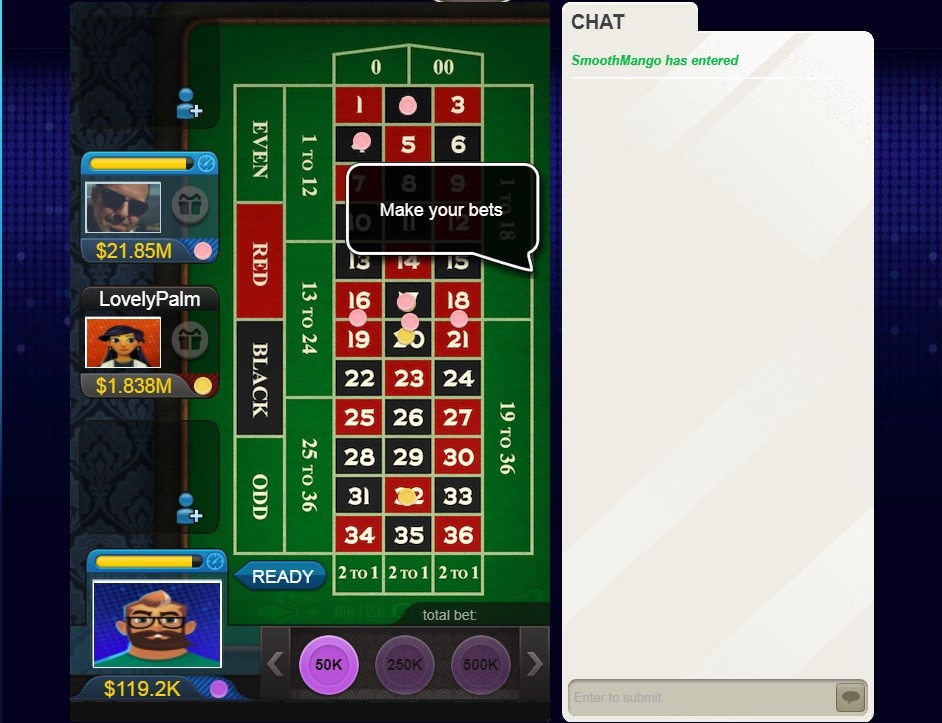 Big Fish Casino Automated Roulette