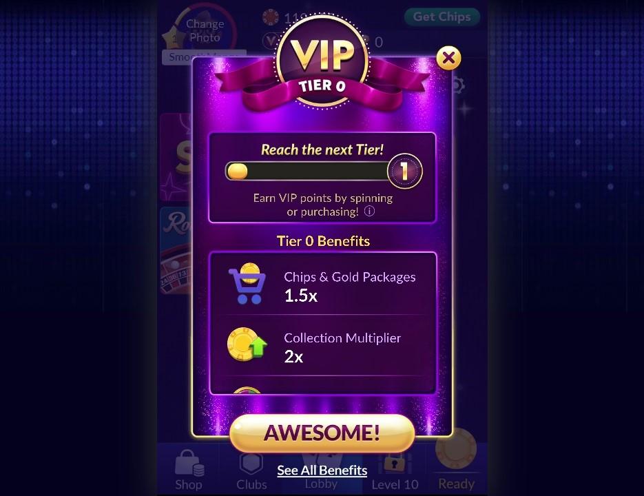 Big Fish Casino VIP Program