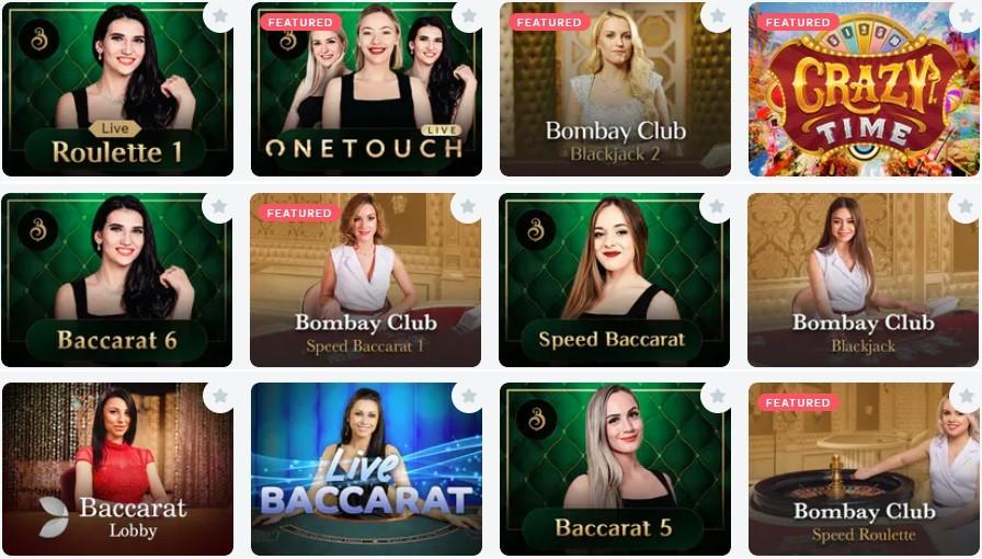 Bitcasino Live Casino Games