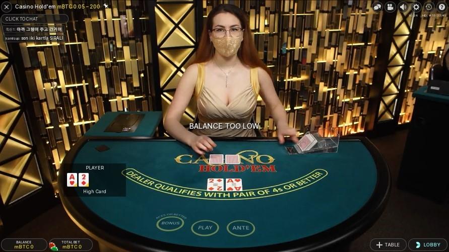 Bitcasino Live Poker