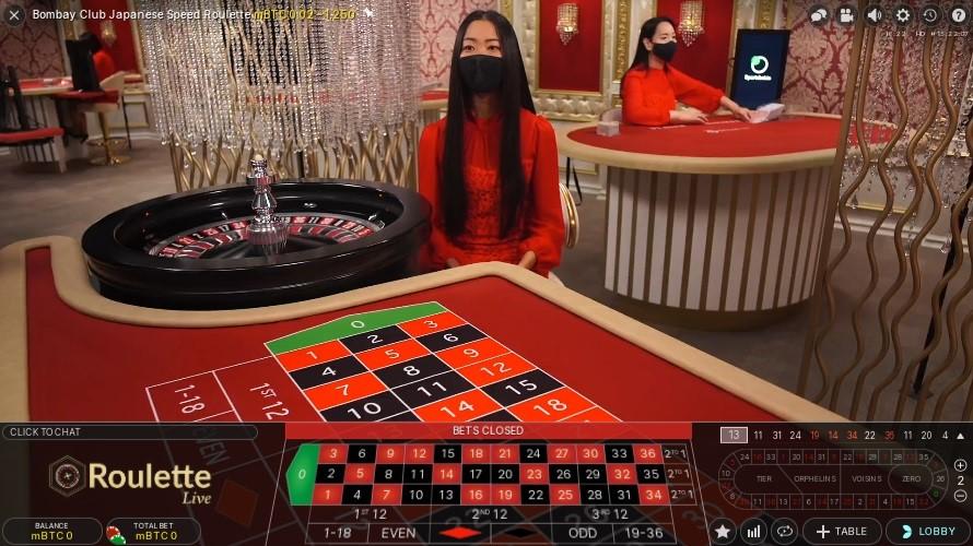 Bitcasino Live Roulette