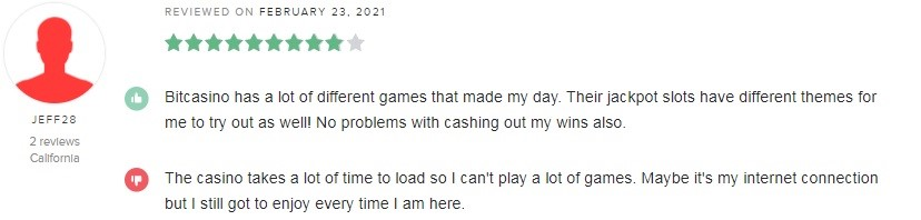 Bitcasino Player Review 3