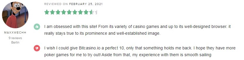 Bitcasino Player Review