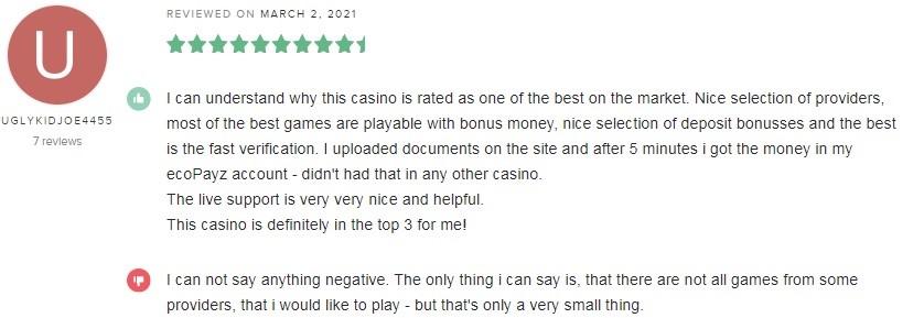 Bitstarz Casino Player Review 3