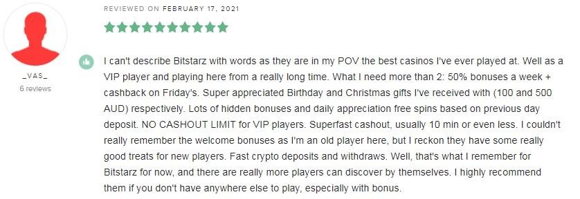 Bitstarz Casino Player Review 4