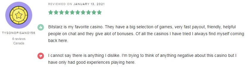 Bitstarz Casino Player Review 5