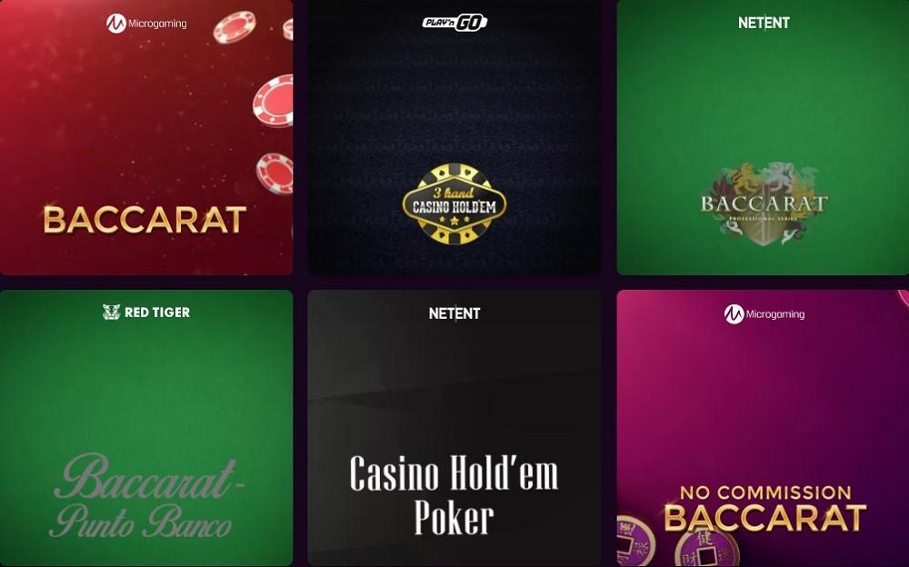 Boom Casino Automated Casino Table Games