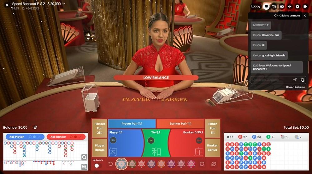 Boom Casino Live Baccarat