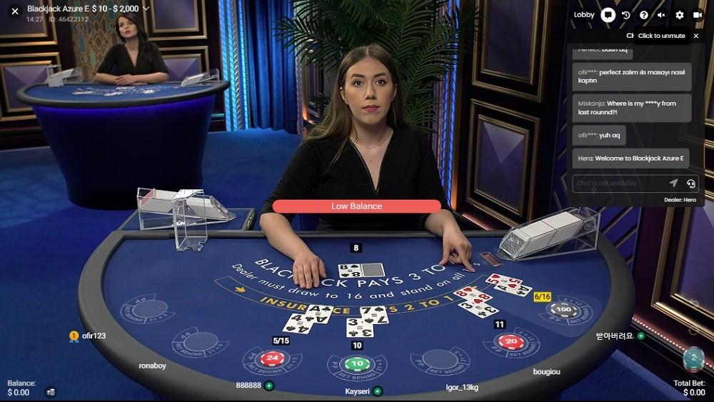 Boom Casino Live Blackjack