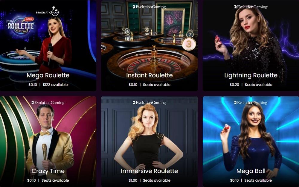 Boom Casino Live Casino Games