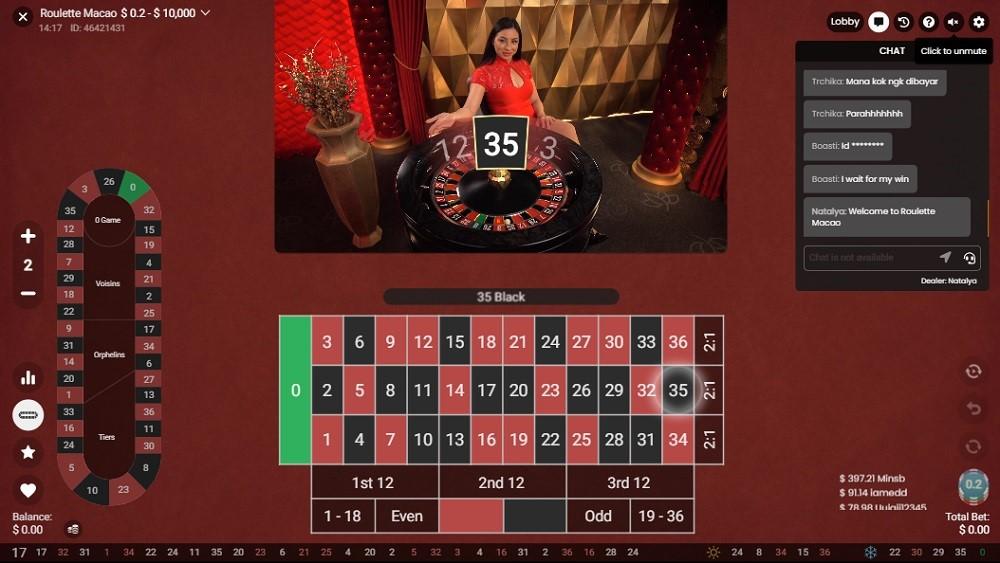 Boom Casino Live Roulette