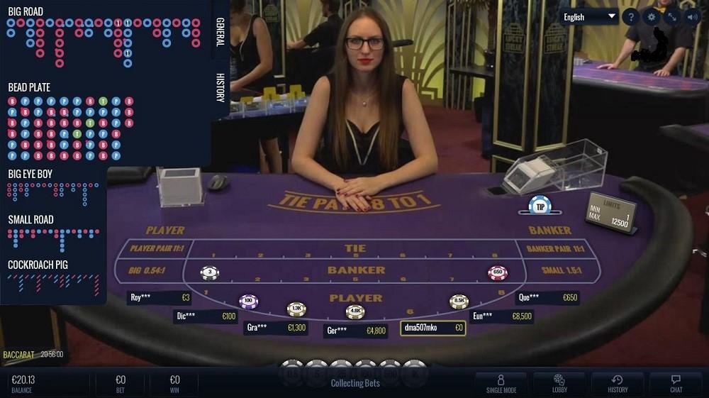 Bronze Casino Live Baccarat