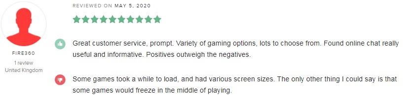Bronze Casino Player Review 4
