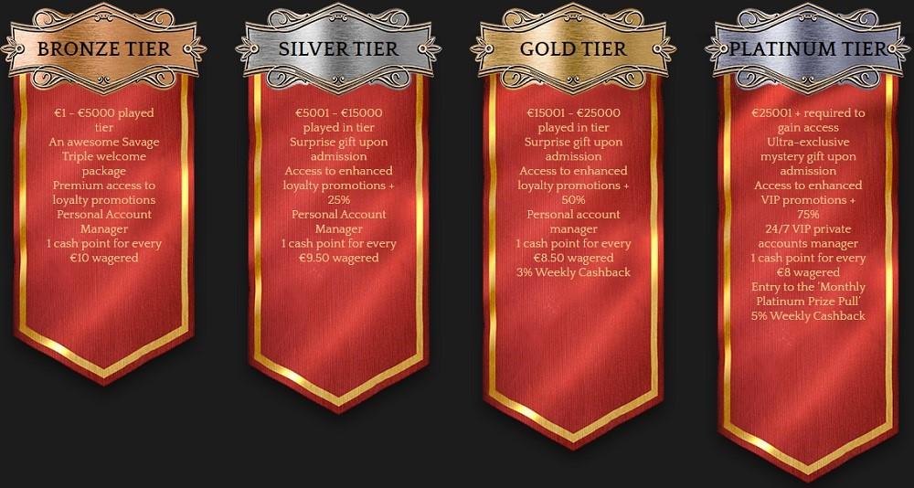 Bronze Casino Rewards Program