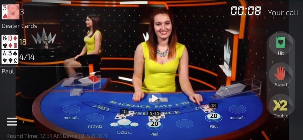 Caesar Casino Live Blackjack