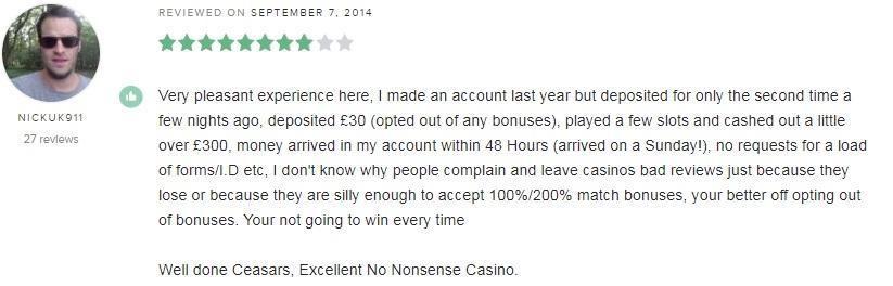 Caesar Casino Player Review
