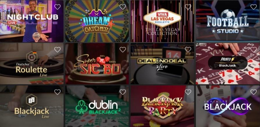 Casino Extra Live Casino Games