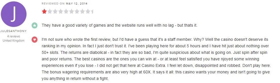 Casino Extra Player Review 2