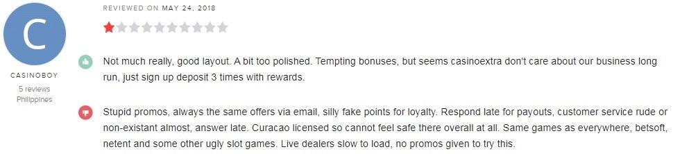 Casino Extra Player Review
