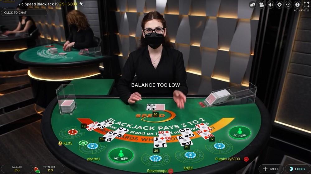 Casino Gods Live Blackjack