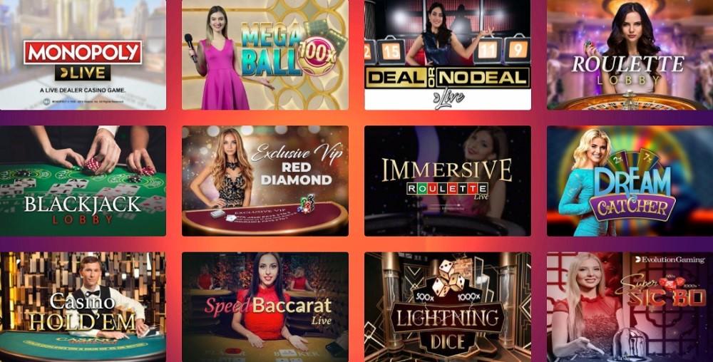 Casino Gods Live Casino Games