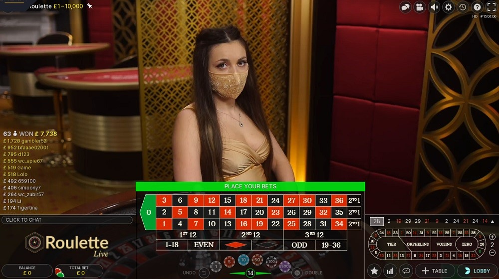 Casino Gods Live Roulette