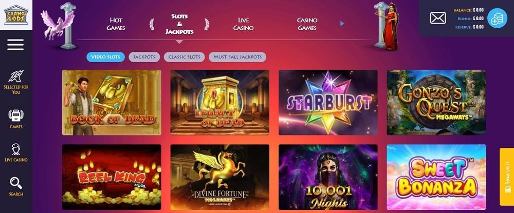 Casino Gods Members Area