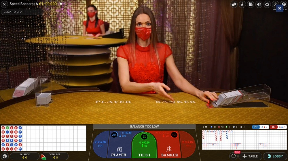 Casino Heroes Live Baccarat