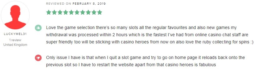 Casino Heroes Player Review 4