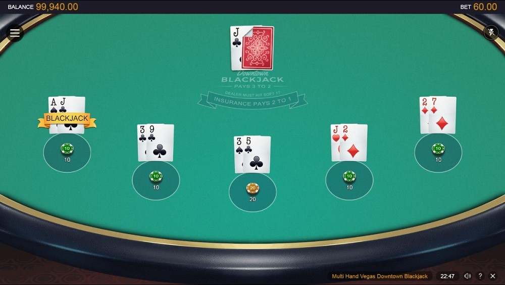 Casino of Dreams Automated Blackjack