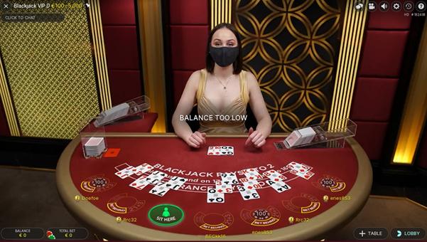 Cherry Casino Live Blackjack