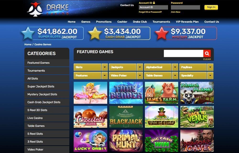 Drake Casino Members Area