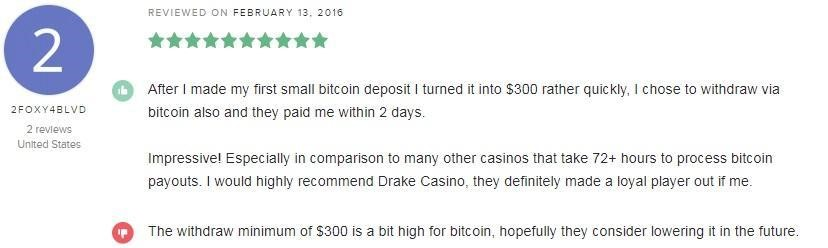Drake Casino Player Review 4