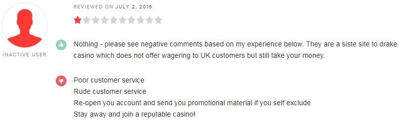 Drake Casino Player Review
