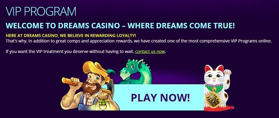 Dreams Casino VIP Program