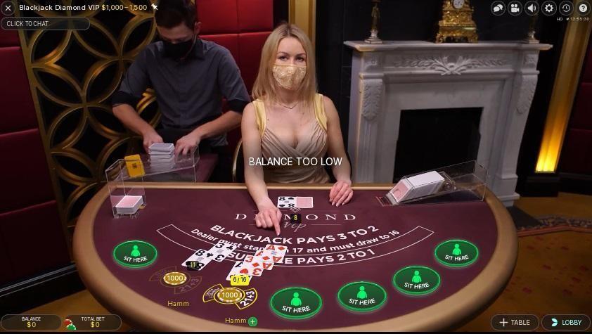 Emu Casino Live Blackjack