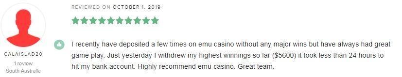 Emu Casino Player Review 4
