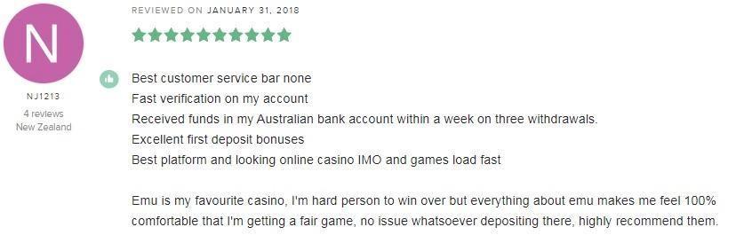 Emu Casino Player Review 5